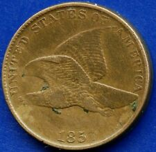 """1857 United States """"Flying Eagle"""" 1 Cent Coin"""