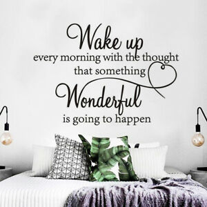 Removable Morning Wake Up Mural Bedroom Decals Wall Stickers Home Bedroom Decor