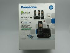 Panasonic KX-TG7624SK Dect 6.0 Link-to-Cell Bluetooth Cordless Phone w/ 4 Phones