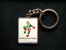 1990 Italy Bertoni Italia 90 CIAO soccer football World Cup metal keyring E)