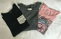Lucky Brand / French Pastry / Rue 21 lot of 3 size T-shirts Small