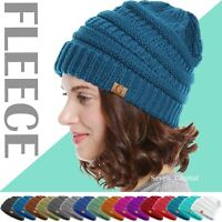 Women's Mens Slouchy Knit Winter Fleece Beanie Hat Baggy Ski Fur Warm Skull Cap
