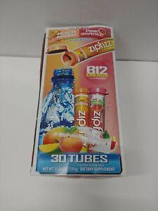 Zipfizz Split box Peach Mango + Pink Grapefruit 29 Tubes +  10/22 All SEALED!
