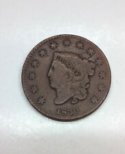 1830 Coronet Head Large Cent - Large Letters/ Very Good VG