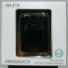 Alfa AWUS036ACH 802.11ac AC1200 867 Mbps Power Boost dual band Wi-Fi USB Adapter