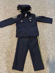 Police Officer Law Enforcement Policeman Cop Uniform Halloween Costume Child 4-6