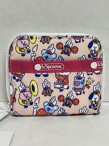 LeSportsac BTS Collection BT21 Claire Multicolor Wallet NWT