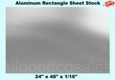Aluminum Rectangle Sheet Stock 24 X 48 X 116 3003 Alloy Mill Finish Plate