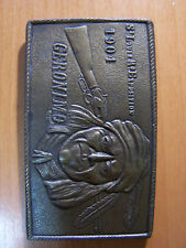 Geronimo Belt Buckle * St. Louis Exposition 1904 * Brass by Lewis Buckles, Co.