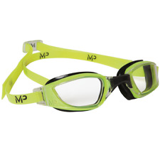 MP Michael Phelps XCEED Swimming Goggles –Yellow / Black - Clear Lens