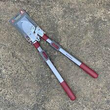 Kent & Stowe Telescopic Ratchet Anvil Lopper - Garden Pruner, Loppers Heavy Duty