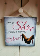 Handmade plaque sign gift sign friend friendship shoes chic presents decor