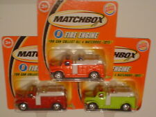 Fire Engine Burger King Promotional set of 3 Trucks NeW