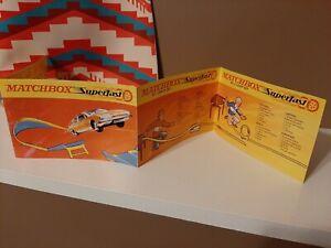 Matchbox Superfast Advertising Leaflet For Lesney Tracks