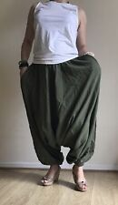 Womens harem pants baggy bohemian boho hippie nepali yoga loose trousers cotton