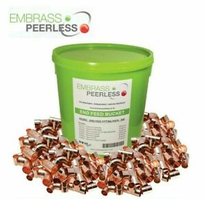 Embrass Peerless 300 End feed Bucket 15mm 22mm Coupler Elbows Tees Reducers WRAS