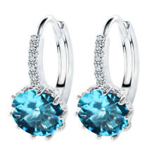 CZ Crystal Earrings for Women Girl Gifts 925 Silver Lever Back Earwires Earring