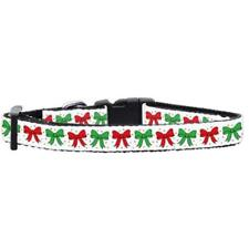 Mirage Pet Products Christmas Bows Nylon Ribbon Cat Safety Collar