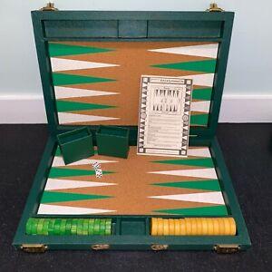 """Crisloid Backgammon Tournament Size 1.75"""" Emerald Green Butterscotch Bakelite"""