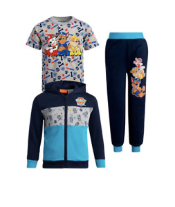 PAW PATROL 3-Piece Jogger Set - Fleece Zip Jacket+Jogger+T-Shirt FASTSHIPPING