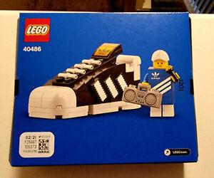 Lego Mini Adidas Originals Superstar shoe 40486 with exclusive promotional