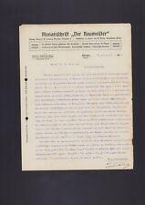 MÜNCHEN, Brief 1908, Monatsschrift Der Baumeister