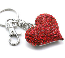 Mother's Day & Valentine's Day Gift Love Red Heart Car Keychain Key Ring Charm