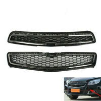 Chrome Front Bumper Upper Grill Lower Grille Mesh for 2013 Chevy Malibu LS LT