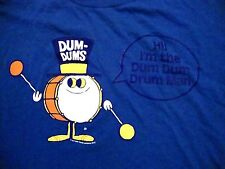 Dum-Dums Drum Man Sucker Lollipops Candy Blue Retro style T Shirt adult L