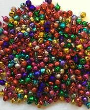 BB 6mm CHRISTMAS BELLS - SHINY MIXED COLOURS pack of 50 jingle craft