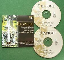 Respighi Fontane di Roma Pini di Roma + Riccardo Muti Neville Marriner CD x 2
