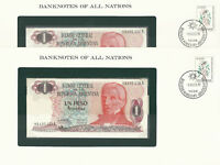 Banknotes of all Nations Argentina 1983-85 1 Peso P 311a2 UNC 3 Consecutive