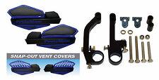 Powermadd Blue/Black Star Snowmobile Handguards & Mount Kit Polaris/Skidoo etc.