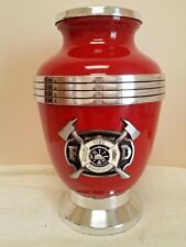 217 Firemens Fireman Firefighter Red Adult Memorial Cremation Urn Free plate