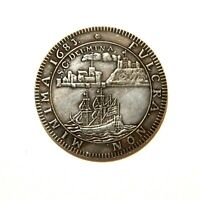 EXONUMIA MEDAL EAST INDIAN COMPANY 1683 / GERMANY / SILVERED TOKEN
