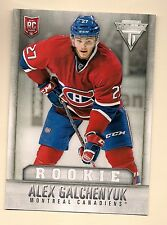 2013-14 CANADIENS ALEX GLCHENYUK # J-5 TITANIUM JUMBO ROOKIE CARD