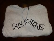 Air Jordan Gray Black Hoodie Men's Size XL Pullover Front Pocket Embroidered