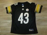 Troy Polamalu #43 Pittsburgh Steelers Reebok NFL Jersey Womens SM Small