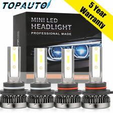 MINI 9005+9006 240W 30800LM Combo LED Headlight High/Low Beam 6000K White Bulbs