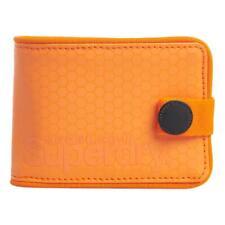Superdry NEW Mens Tarp One Popper Wallet - Orange BNWT