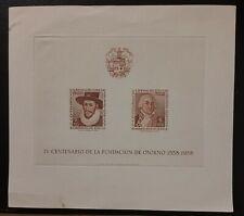 Block Sheet Souvenir #4 Chile 400th Anniversary foundation of Osorno 1558-1958
