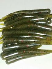 3.5 IN KNIFE TAIL WORM-drop shot/Finesse - GREEN PUMKIN RED FLK/HVY GARLIC 20PAC