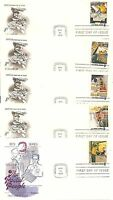 US SC # 1489-1498 Postal People FDC. 10 Covers Set. Fleetwood, Artcraft  Cachet.