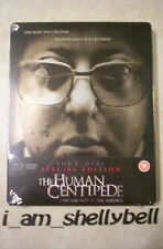 New The HUMAN CENTIPEDE First + Full Sequence Blu-ray & DVD 4-Disc SE STEELBOOK