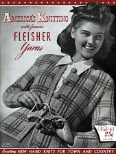 Fleisher's #63 c.1940 America's Knitting Vintage Style Patterns for Women
