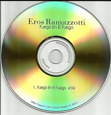 EROS RAMAZZOTTI Fuego En El TST PRESS 2000 PROMO Radio DJ CD Single