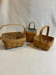 Longaberger (2001, 2003) Small Baskets - Set of 3