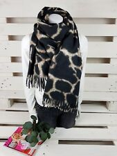 Result Winter Essentials Snow Leopard Set Handschuhe Schal Leopardenmuster Neu
