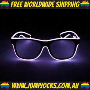 Purple LED Glasses - Rave, Costume, Party, Light Up *FREE WORLDWIDE SHIPPING*
