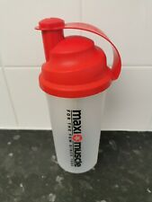 Maximuscle 700ml Protein Shaker - White/Red